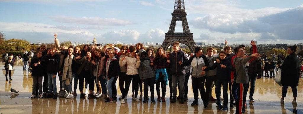 2 classes de 4eme en voyage pédagogique a Paris